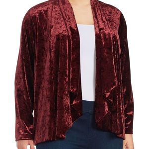 Vince Camuto Red Velour Blazer